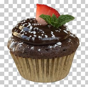 Cupcake Flourless Chocolate Cake Muffin Frosting & Icing PNG