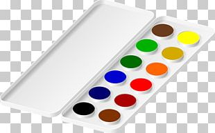 Watercolor Painting Palette PNG