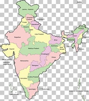 States And Territories Of India Map Geography PNG