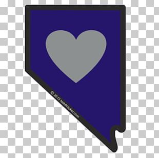 Flag Of Nevada Sticker Heart Die Cutting PNG