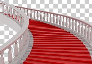 Stairs Stair Carpet Red Textile PNG