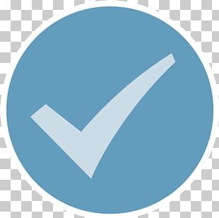 Blue Check Mark Service Workflowy English PNG
