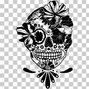 Calavera Skull Day Of The Dead Drawing Mexico PNG