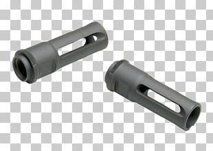 Flash Suppressor Gun Barrel Silencer Firearm Muzzle Brake PNG