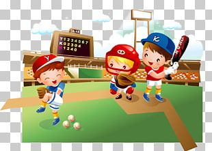 Baseball Field Cartoon Child PNG