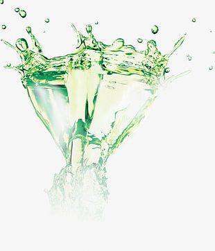 Green Spray PNG