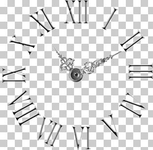 Clock Face Roman Numerals Numeral System Wall Decal PNG