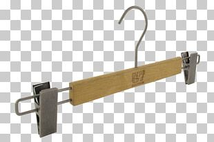 Clothes Hanger With Metal Clips PNG