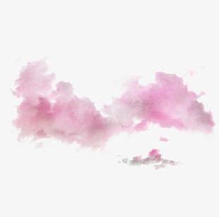 Pink Ink Clouds PNG