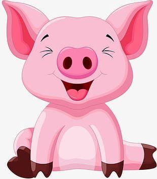 Pink Pig PNG