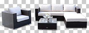 Garden Furniture Lounge Chair Rattan PNG
