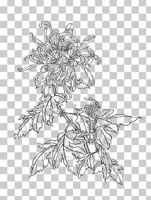 Gongbi Manual Of The Mustard Seed Garden Painting Chrysanthemum China PNG