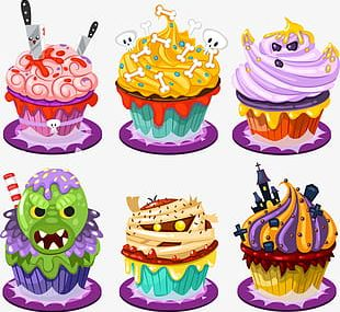 Funny Halloween Cute Cake PNG