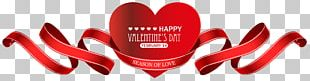Valentine's Day Red Heart Decor Transparent PNG
