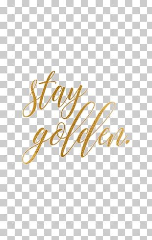 Stay Gold Desktop Nothing Gold Can Stay PNG