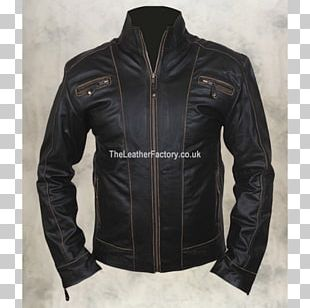 Leather Jacket Coat Cowhide PNG