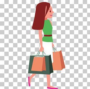 Woman Shopping Drawing PNG