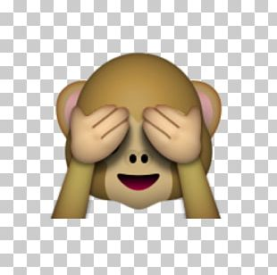 Emoji Three Wise Monkeys Eye Sticker PNG
