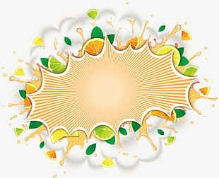 Yellow Fruit Background PNG