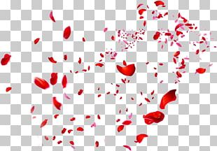 Beach Rose Petal Red Heart PNG