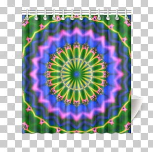 Kaleidoscope Symmetry Purple Dye Pattern PNG