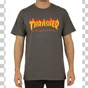 T-shirt Thrasher Presents Skate And Destroy Zumiez Skateboard PNG