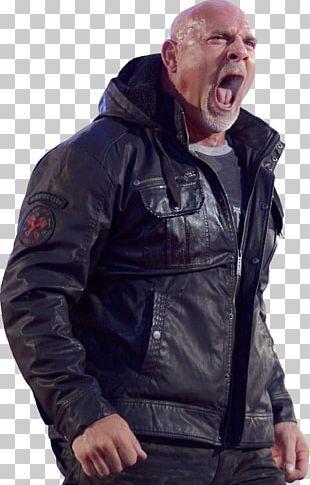 Bill Goldberg Hoodie Leather Jacket Coat PNG