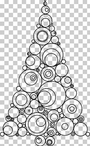 Christmas Tree Drawing Child Png Clipart Art Black Black And