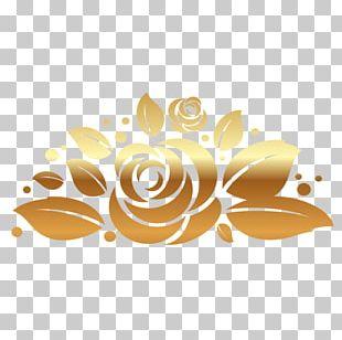 Gold Rose PNG