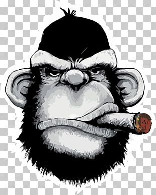 T-shirt Ape Cigar Iron-on Monkey PNG