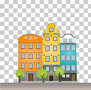 The Architecture Of The City Building Cartoon Illustration PNG