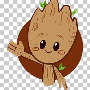 Baby Groot Sticker Telegram Facebook PNG