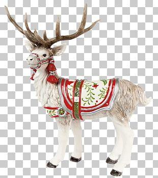 Santa Claus Reindeer Christmas Decoration PNG