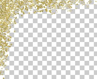 Gold Glitter Material PNG