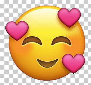 Emoji Emoticon Heart Love Sticker PNG