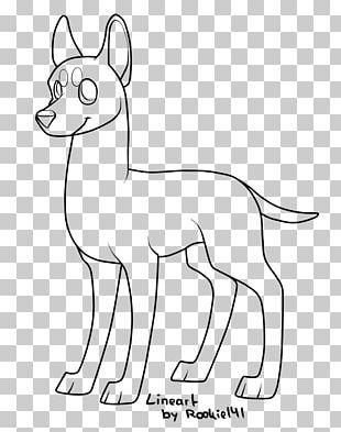 Line Art Dog Breed PNG