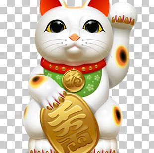 Cat Maneki-neko Luck PNG