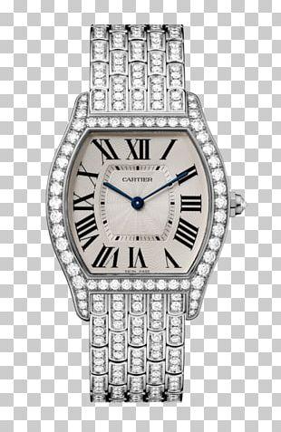 Turtle Watch Cartier Diamond Brilliant PNG