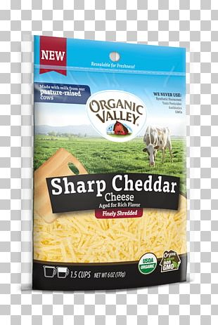 Organic Food Cheddar Cheese Grated Cheese Organic Valley PNG