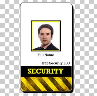 Badge Template Security Guard Identity Document PNG