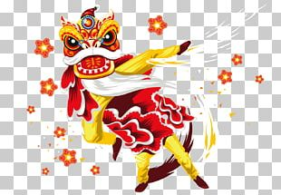 Lion Dance Chinese New Year Dragon Dance Poster PNG