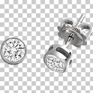 Earring Brilliant Diamond Cut PNG