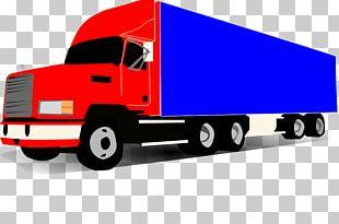 Cartoon Semi-trailer Truck PNG