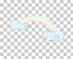 Cartoon Rainbow Cloud PNG