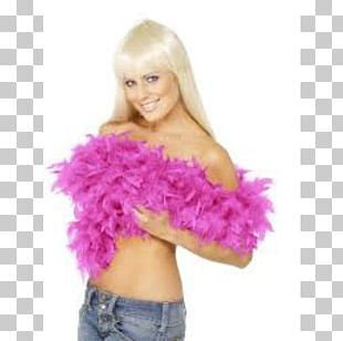 Feather Boa Costume Party Pink Fuchsia PNG