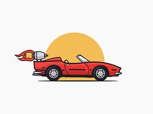 Sports Car Automotive Design Illustration PNG