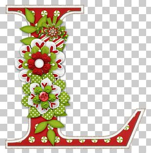 Letter Alphabet Christmas Font PNG