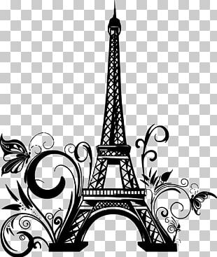 Eiffel Tower Drawing Wall Decal PNG