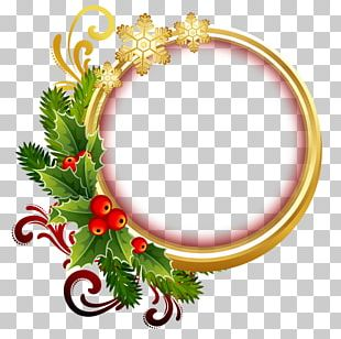 Christmas Ornament Frames Photography PNG