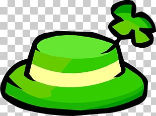 Club Penguin Ireland Shamrock Hat Saint Patricks Day PNG